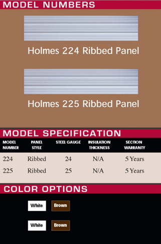 Energy efficient non insulated door specifications