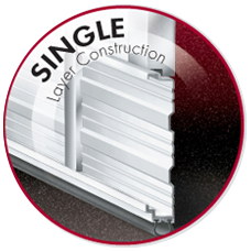 Single layer construction commercial door